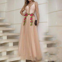 Load image into Gallery viewer, Sex Fashion Deep V-Neck Evening Dress