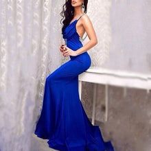 Load image into Gallery viewer, Fashion Sex Backless V-Neck Evening Dress