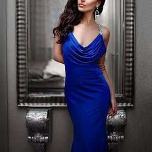 Fashion Sex Backless V-Neck Evening Dress