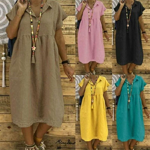 2019 Summer Plain Loose Dress