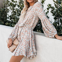 Load image into Gallery viewer, 2019 Summer Floral Printed Belted Vacation Dress
