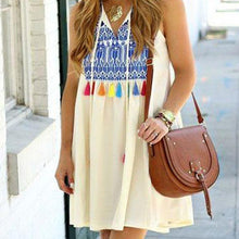 Load image into Gallery viewer, Casual Printed Colour Sleeveless Mini Dresses