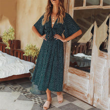 Load image into Gallery viewer, 2019 Summer Deep V Collar Floral Printed Vacation Dress