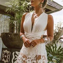 Load image into Gallery viewer, Sexy Backless Crossbanding Lace Hollow Vacation Dress