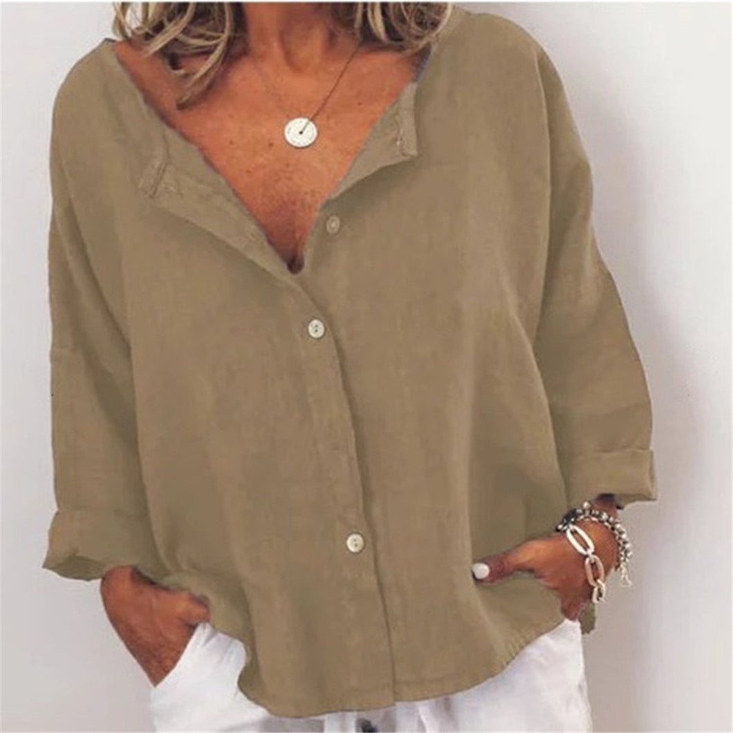 Loose Casual Solid Color Top