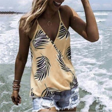Load image into Gallery viewer, Summer Printed V Collar Sexy Chiffon Sleeveless Garment Top