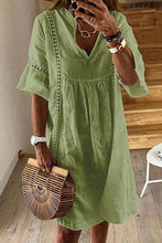 Load image into Gallery viewer, Pure Color Crocheted Casual Dress