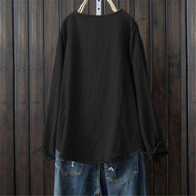 Load image into Gallery viewer, Women's Round Collar And Long Sleeves Shirt