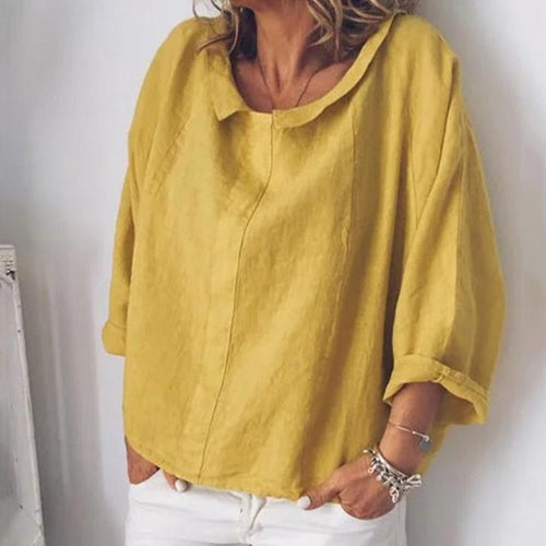 Fashion Casual Cotton And Linen T-Shirt Top