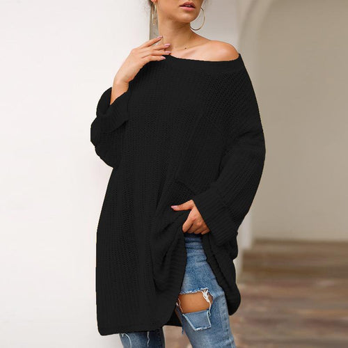 Fashionable Long Lazy Wind Knit Sweater