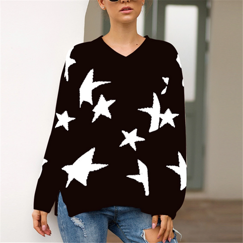 Fashion Lazy Wind Sweater Loose Sweater