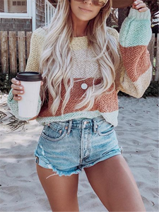 Casual And Comfortable Color Striped Sweater