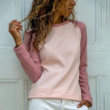 Load image into Gallery viewer, Casual And Comfortable Pink Raglan Sleeve Sweater