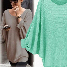 Load image into Gallery viewer, Loose Round Neck Long Lantern Sleeve Sweater