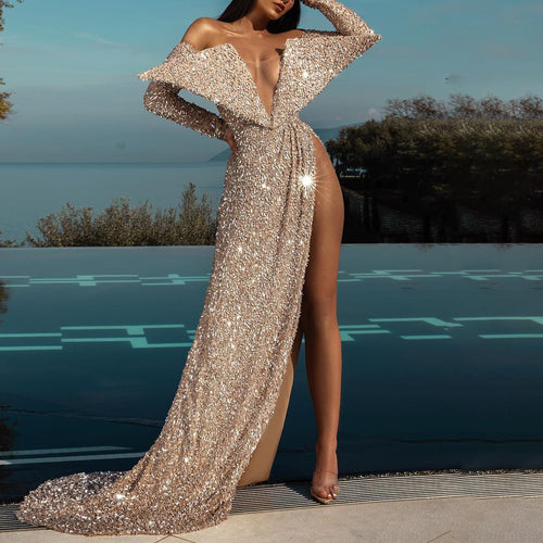 Angel Wings Off-Shoulder Party Evening Gown Dresses