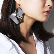 Load image into Gallery viewer, Fashion Geometric Irregular Mirror Earrings