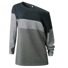 Load image into Gallery viewer, Scoop Neck  Color Block Sweaters