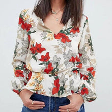 Load image into Gallery viewer, Fashion V Collarr Floral Printed Shirt
