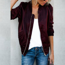 Load image into Gallery viewer, Zipper Sport  Plain Jacket