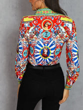 Load image into Gallery viewer, Fashion Turndown Collar Printed Colour Shirt