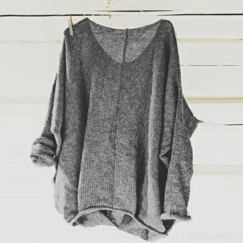 Autumn Spring  Polyester  Women  Round Neck  Plain  Long Sleeve Long Sleeve T-Shirts