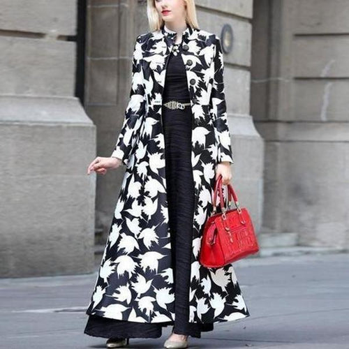 Autumn And Winter   Fashion Prints Warm Long Coats