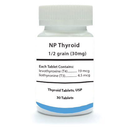 NP Thyroid 1/2 Grain 30 Count