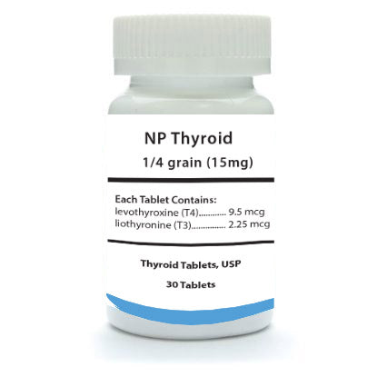 NP Thyroid 1/4 Grain 30 Count