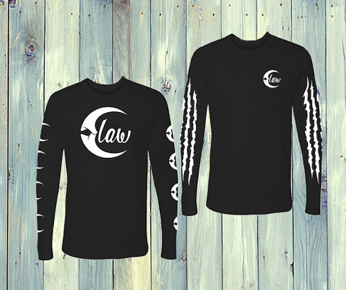Claw Long Sleeve Logo T-Shirt in Black