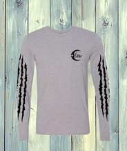 Load image into Gallery viewer, Long Sleeve T-Shirt Grey with Slash Print Sleeves