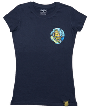 Load image into Gallery viewer, Lemon Life Ladies Surfing Lemon T Shirt