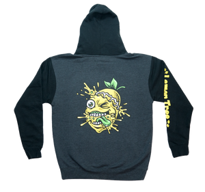 Lemon Life Lemon Splat Two-Tone Hoodie with Arm Print