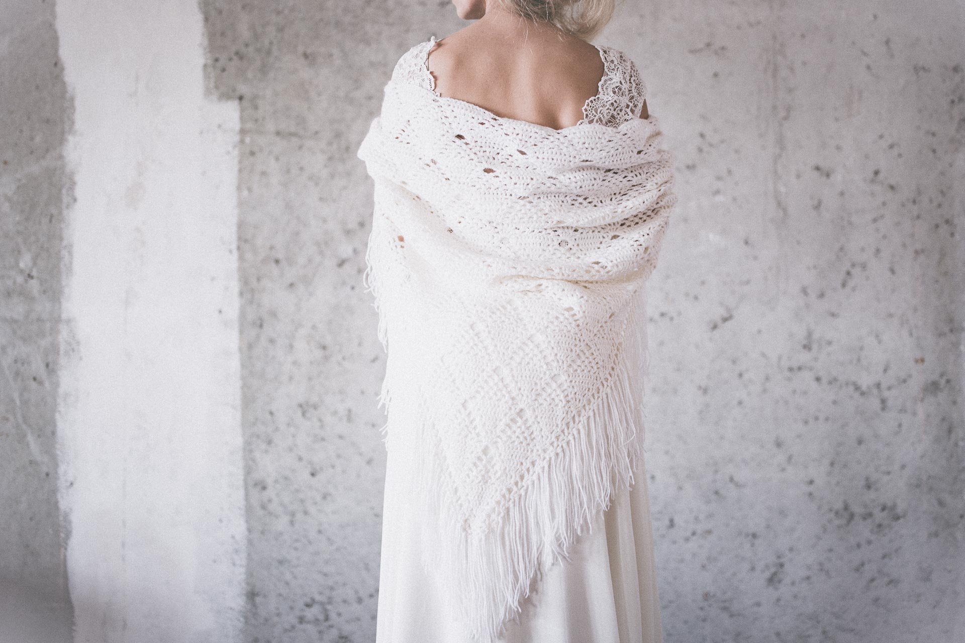 BOHO LUXURY BRIDAL STOLE  white diamond