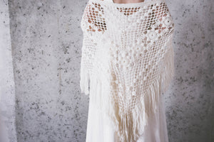 BOHO LUXURY BRIDAL STOLE   warm off white