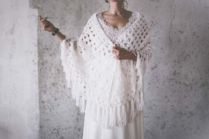 BOHO EXCLUSIVE BRIDAL STOLE snow white stars