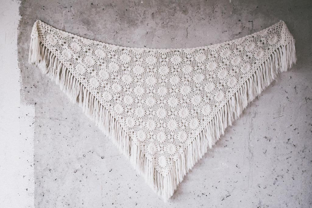 BOHO LUXURY BRIDAL STOLE   ivory flowers