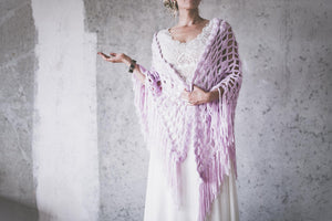 BOHO EXCLUSIVE BRIDAL STOLE lilac
