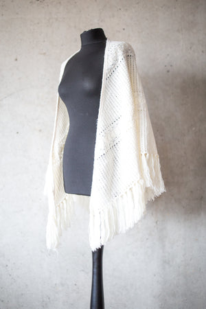 BOHO CHIC BRIDAL STOLE faded white