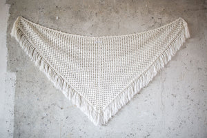 BOHO CHIC BRIDAL STOLE pattern white
