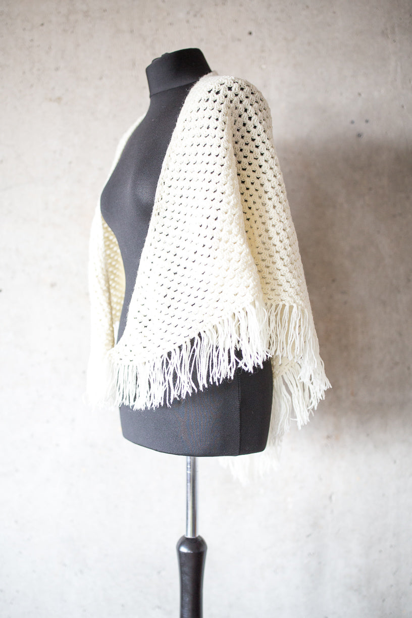 BOHO CHIC BRIDAL STOLE true ivory