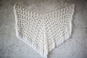 BOHO CHIC BRIDAL STOLE white butterfly