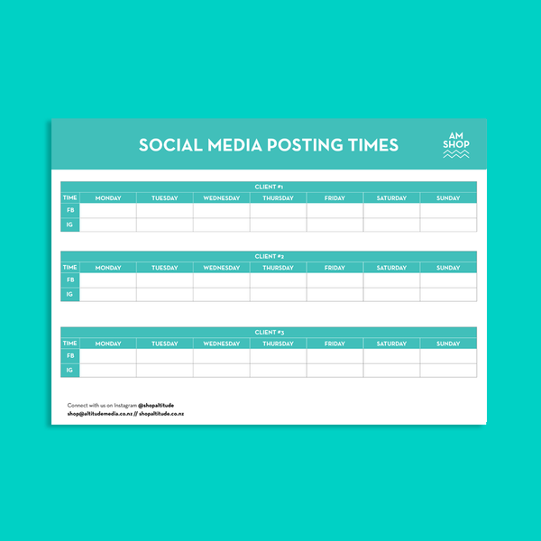 Social Media Times Posting Template