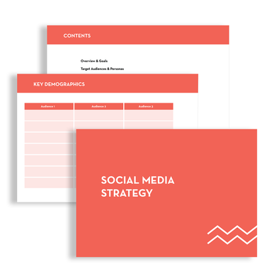 flat lay image of a social media strategy document for Altitude Media