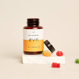 Evn CBD Sour Gummy Bear Bottle Open