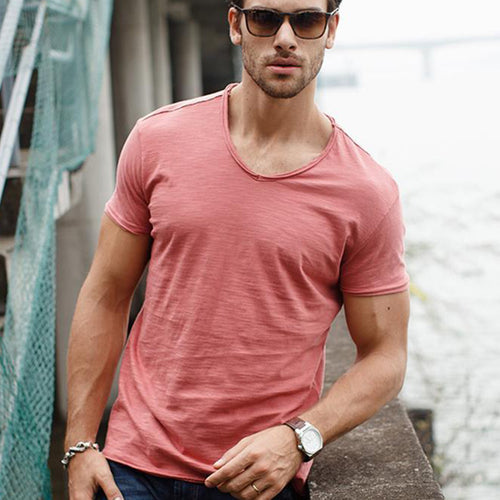 Casual Round Neck Short Sleeves T-Shirt