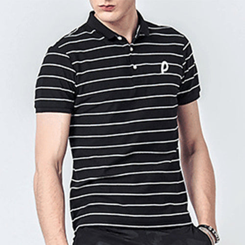 Fashion Lapel Polo Stripe Shirt