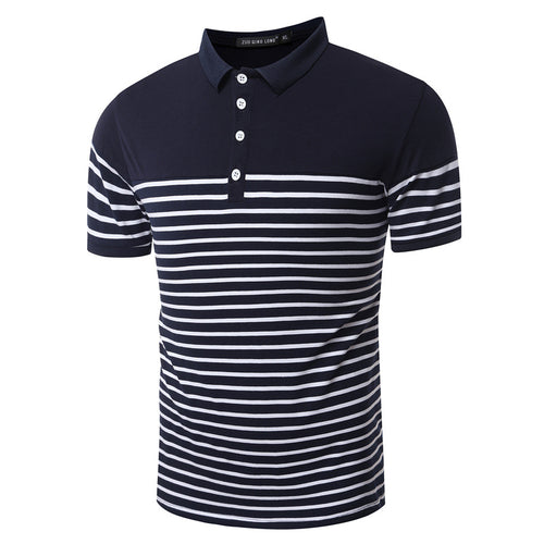 Casual Slim Fit Stripe Polo Shirt