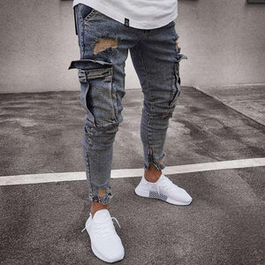 Bravonew Long Jean Stretch Slim Trousers Pants