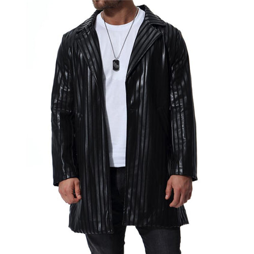 Stylish Business Slim V Collar Long Sleeve Jacket Men Outerwear
