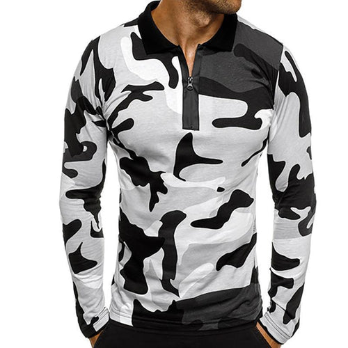 Fashion Mens Camouflage Polo Shirts